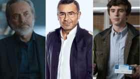 José Coronado, Jorge Javier Vázquez y Freddie Highmore (Mediaset)