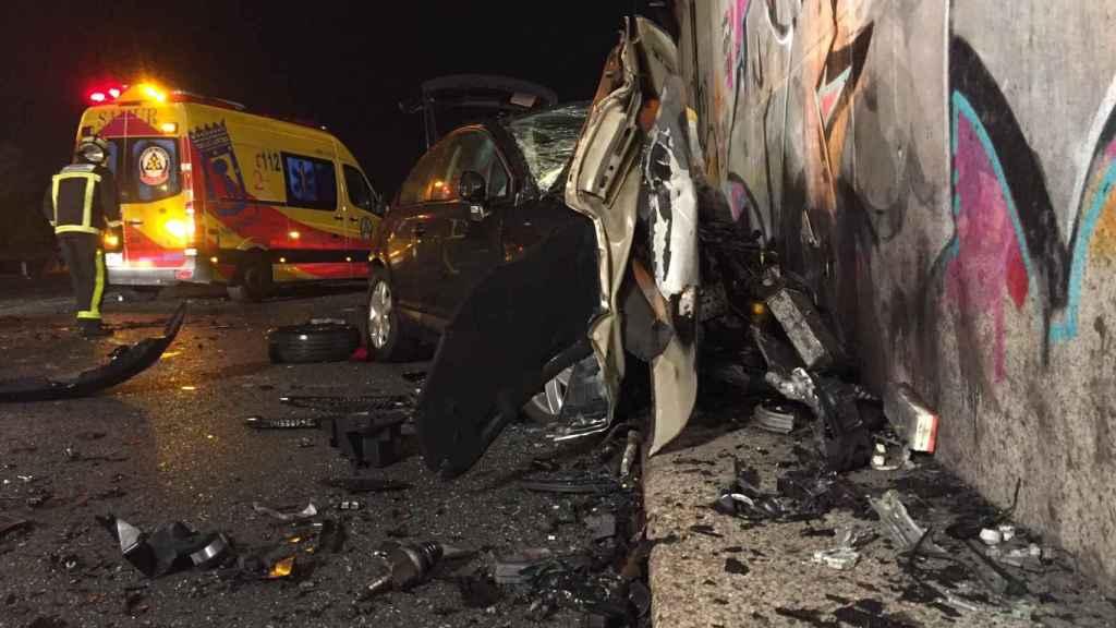 Imágenes del accidente, en el kilómetro 25 de la M-50.