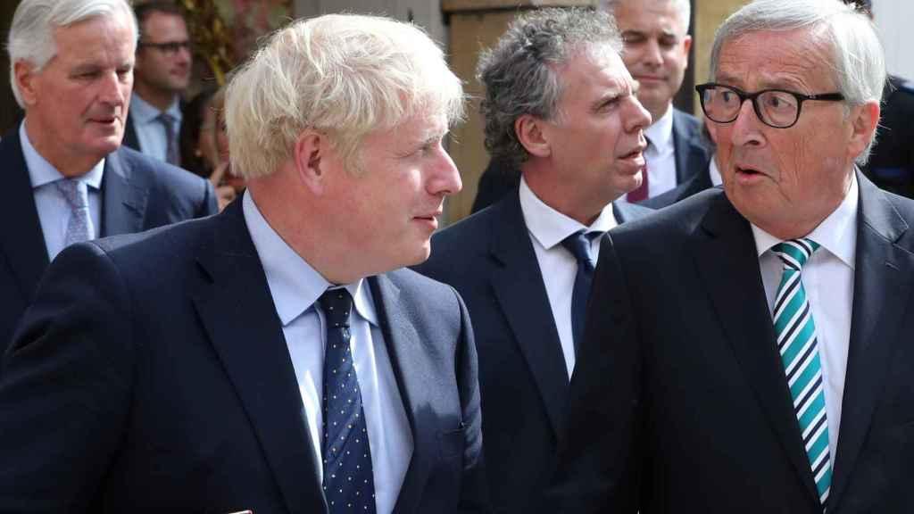 Boris Johnson y Juncker este lunes