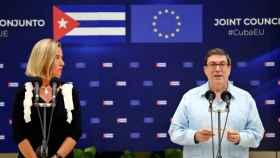 Federica Mogherini, Alta Representante de la UE, y Bruno Rodríguez, su homólogo cubano.