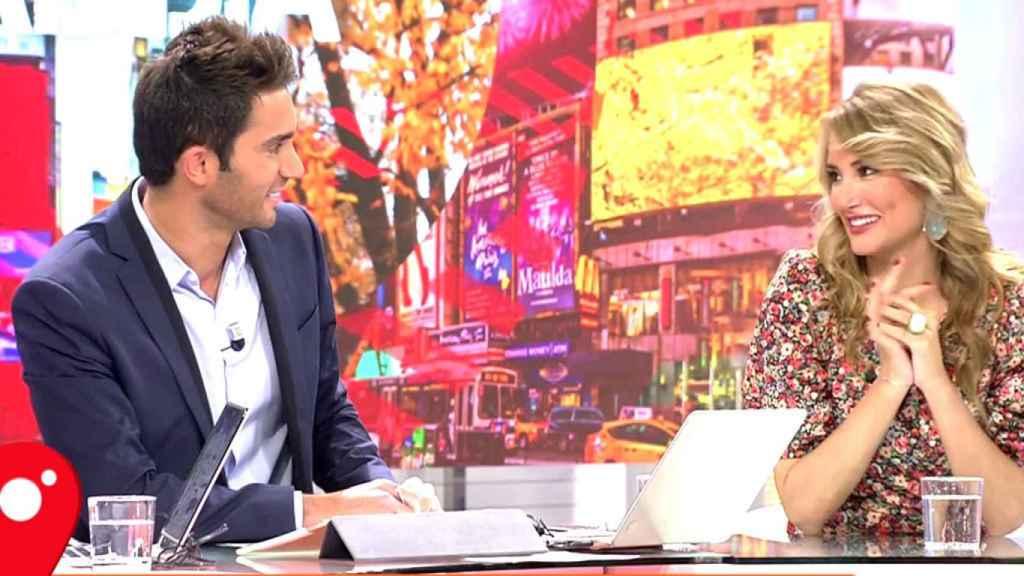 Alba y Santi en el programa de Cuatro en el que se conocieron.