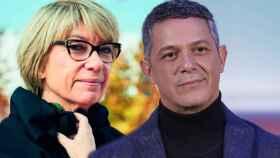 Rosa Lagarrigue y Alejandro Sanz en el montaje de Jaleos.