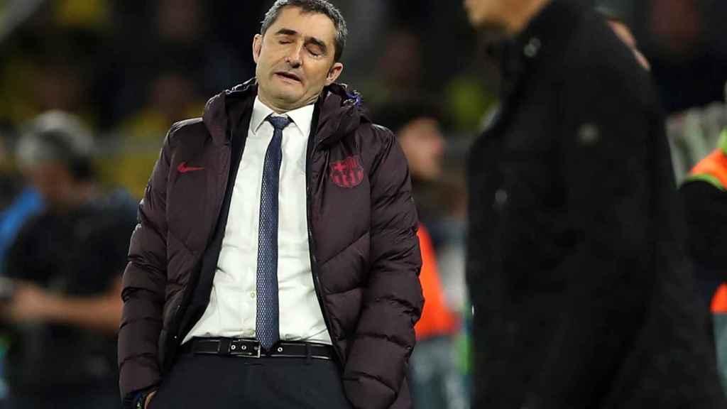 Valverde en el encuentro frente al Dortmund
