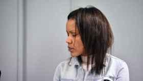 Ana Julia Quezada sentada en la sala de la Audiencia Provincial de Almería este pasado lunes.