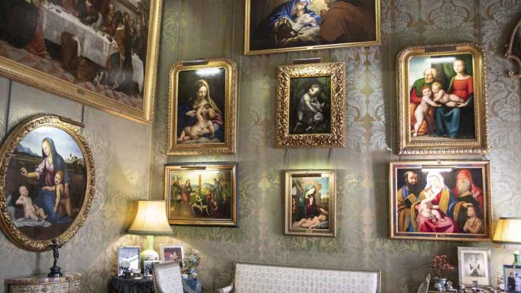 Obras expuestas en el Salón Italiano del Palacio de Liria.