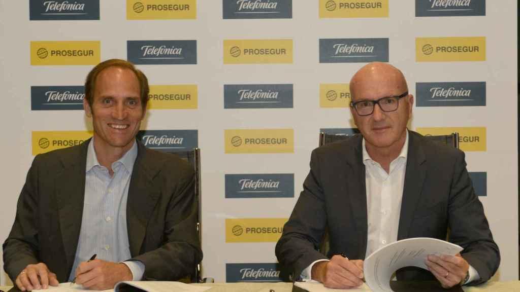 Christian Gut, consejero delegado de Prosegur, y Ángel Vilá, consejero delegado de Telefónica.