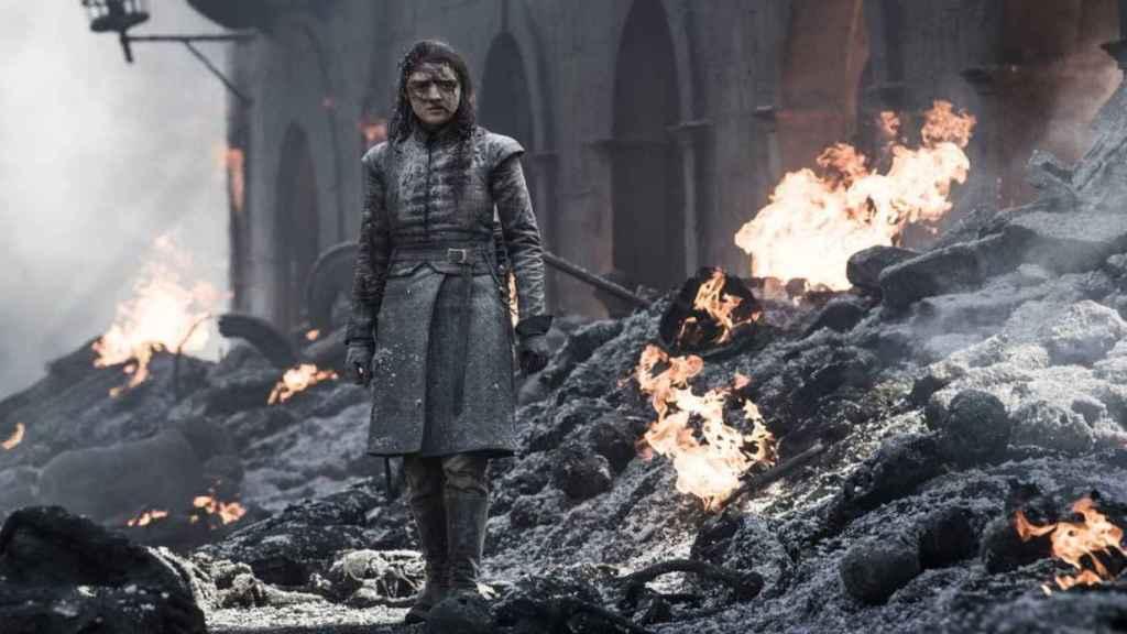 Arya en la última temporada de Juego de Tronos.