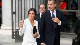 Los reyes de España, Felipe y Letizia, en la inauguración de la temporada del Teatro Real.