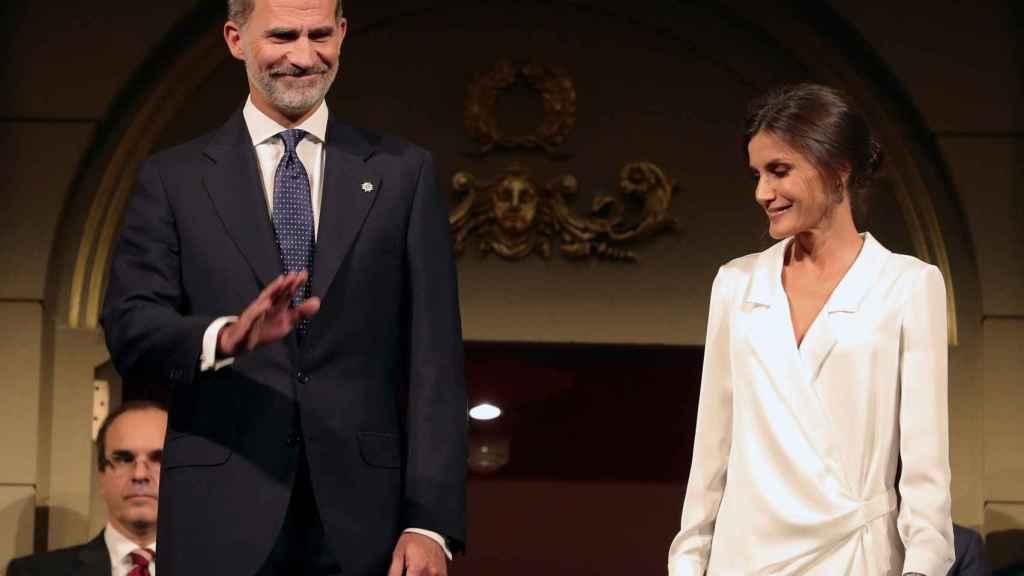 El Rey Felipe y Doña Letizia, en el Teatro Real