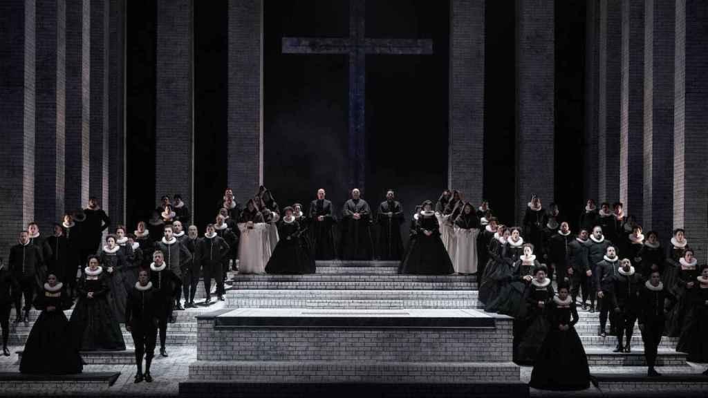 Un momento de Don Carlo, en el Teatro Real.