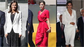 Letizia con vestido de Cherubina, de Poète y de Lola Li.
