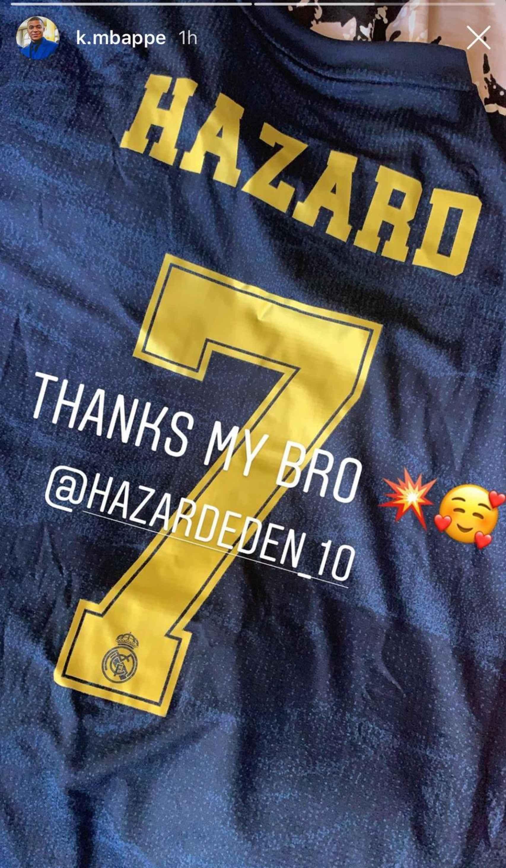 El regalo de Hazard a Mbappé