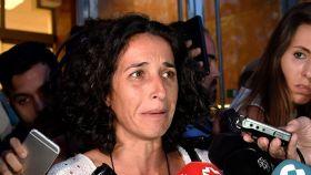 Patricia Ramírez, este jueves a su salida de la lectura del veredicto del juicio a Ana Julia Quezada.