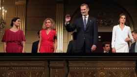 Los Reyes, Felipe y Letizia, después de Isabel Díaz Ayuso, presidenta de Madrid, y Meritxell Batet, del Congreso.