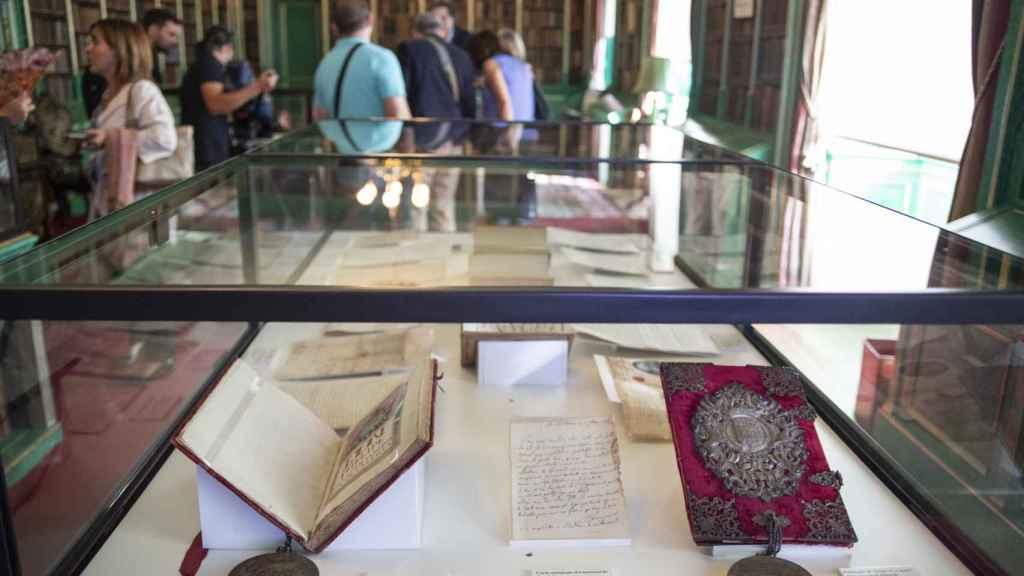 La biblioteca del Palacio de Liria, uno de los grandes atractivos de la visita.