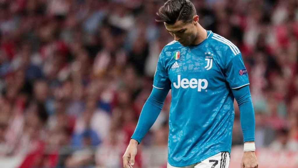 Cristiano Ronaldo, en un partido de la Juventus de Turín de la Champions League