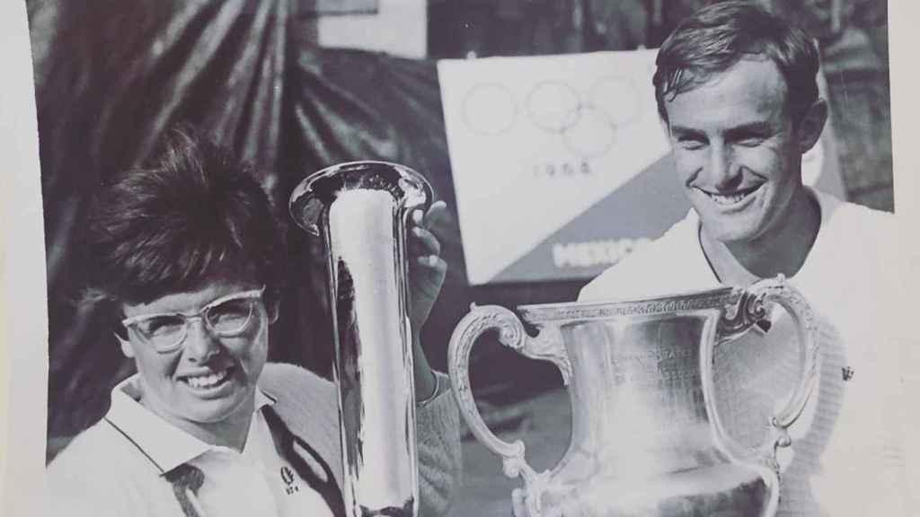 Billie Jean King y John Newcombe. Foto: Instagram (@billiejeanking)