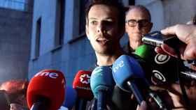 Ángel Cruz, padre del pequeño Gabriel, tras conocer el veredicto del jurado popular.