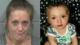 Kimberly Nelligan, de 33 años, y su hija, de un año