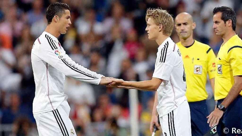 Debut de Odegaard con el Real Madrid en 2015. Foto (realmadrid.com)