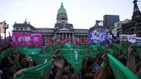 Una manifestación por la despenalización del aborto.