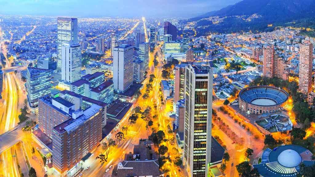 Imagen de la capital colombiana, Bogotá, en pleno apogeo económico y de innovación.