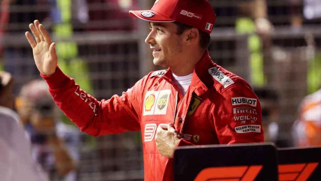 Charles Leclerc, tras lograr la pole en Singapur