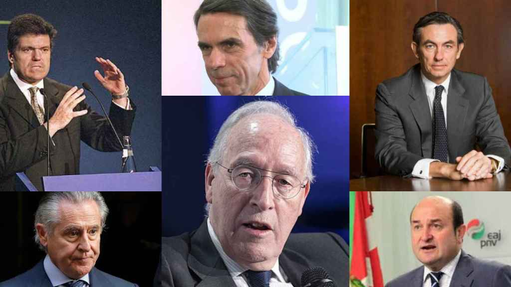 J. Villalonga, Miguel Blesa, J. Mª Aznar, Manuel Pizarro, Álvaro Aresti, Andoni Ortuzar.