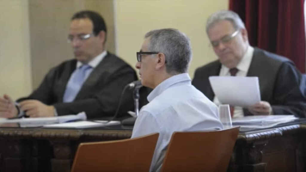 Jesús, en 2014, durante el juicio por el asesinato de su pareja Antonia. Quedó absuelto.