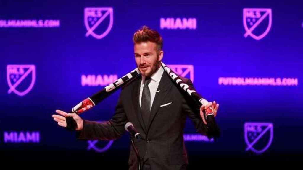 David Beckham, en la presentación de su nuevo proyecto en el Inter Miami