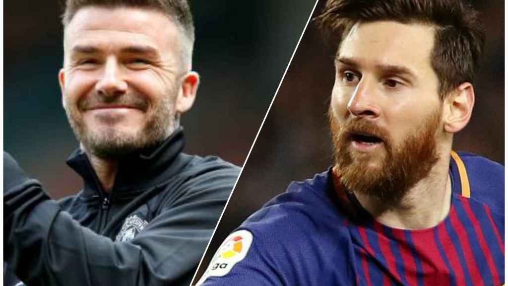Lionel Messi y David Beckham