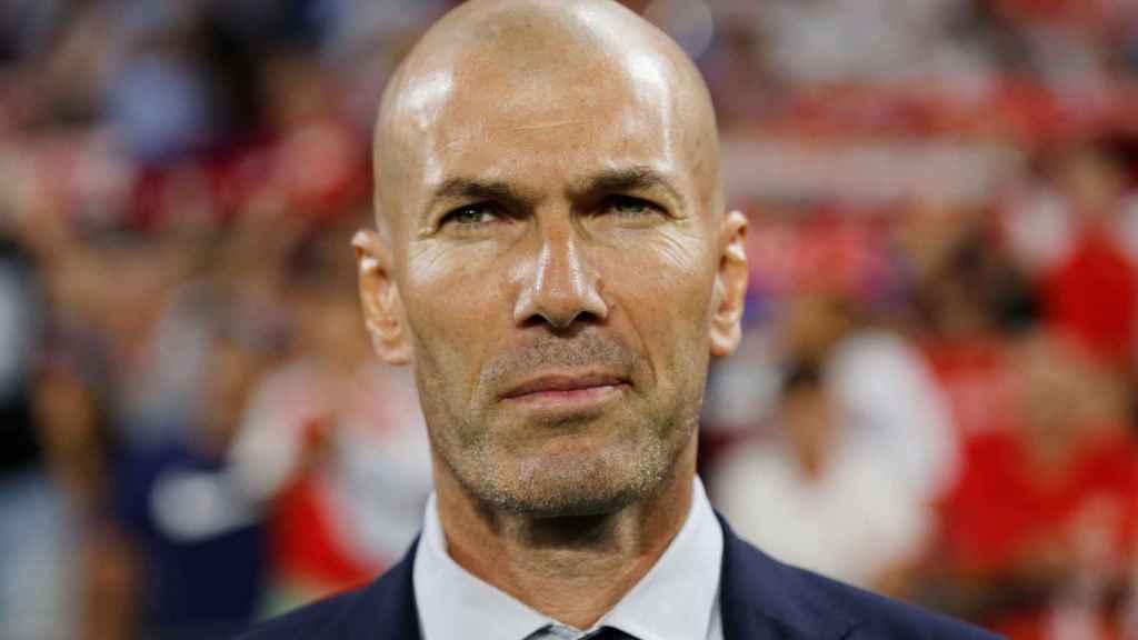 Zinedine Zidane, en el Sánchez Pizjuán