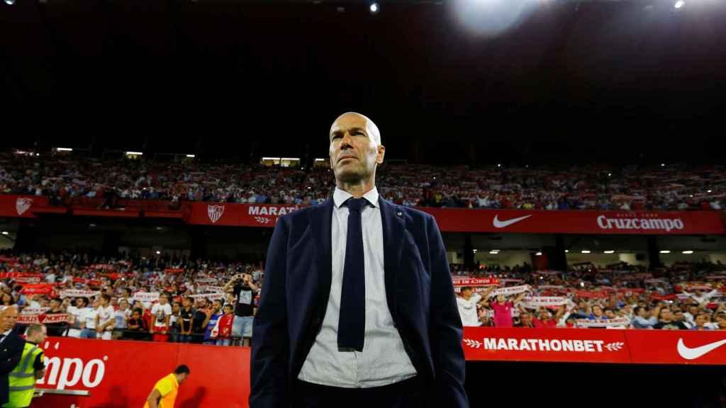 Zidane en el Pizjuán.