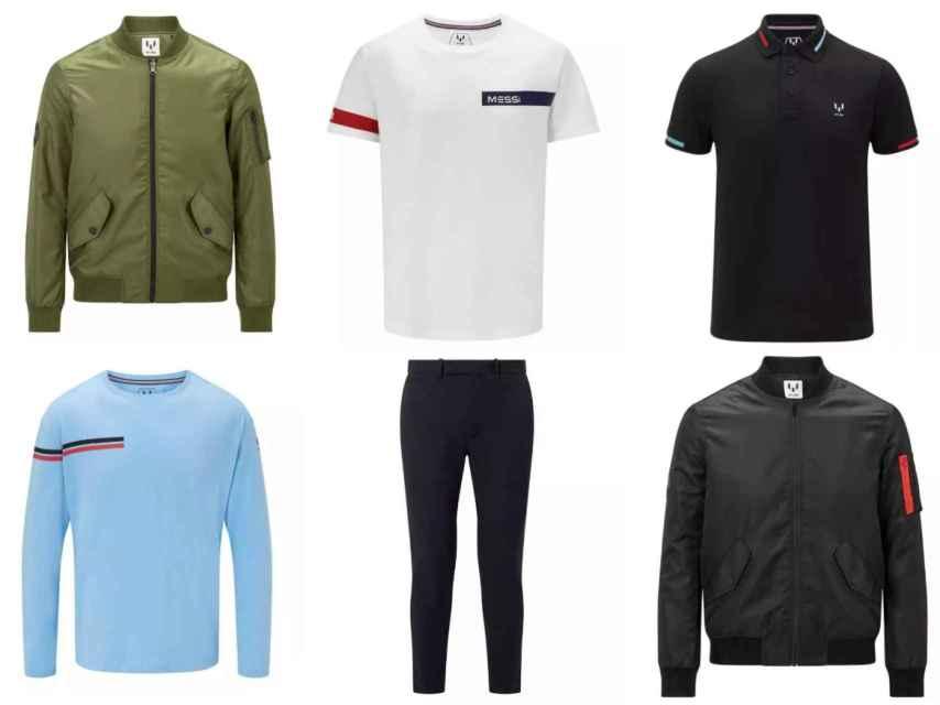 Estas son las prendas que pertenecen a la colección de Messi.