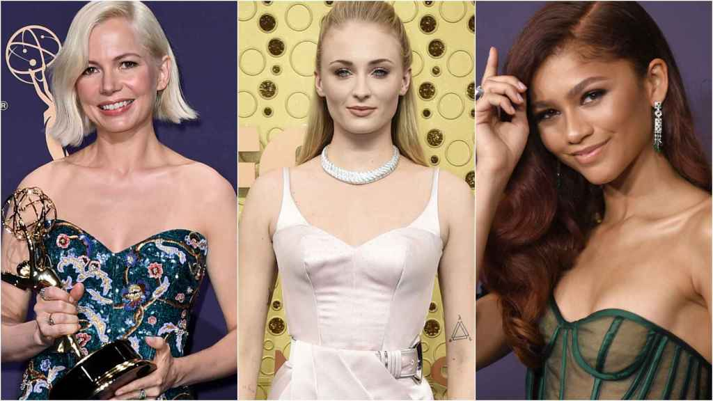 Michelle Williams, Sophie Turner y Zendaya en los Emmy 2019.