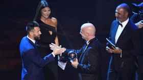 Messi recibe el Premio The Best 2019