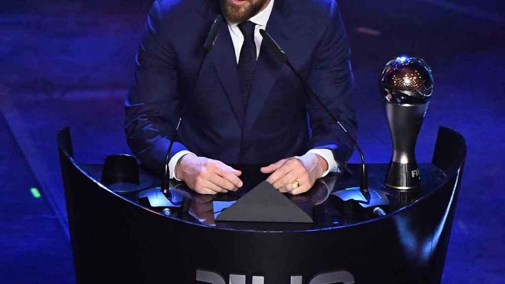 Leo Messi, tras recibir el Premio The Best 2019