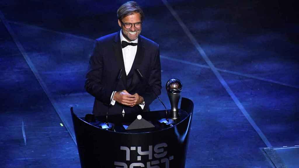 Jürgen Klopp gana el premio The Best a mejor entrenador del año