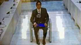 El juez Supremo de Perú, César Hinostroza, durante su vista de extradición en la Audiencia Naiconal.