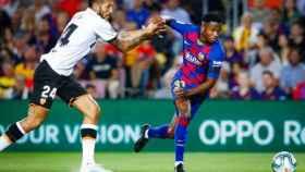 Garay y Ansu Fati en un partido (@FCBarcelona)