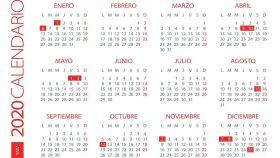 Este es el calendario de festivos de la Comunidad de Madrid para el año 2020