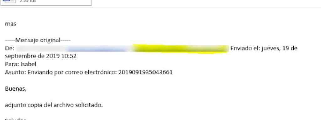 Ejemplo 2 de los correos interceptados.
