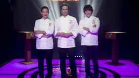 Samantha Vallejo-Nágera, Pepe Rodríguez y Jordi Cruz, el jurado de 'MasterChef'.