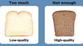 La 'tarjeta' de las calorías: de las menos saludables a las más. Audrey Jenkins/Tufts University