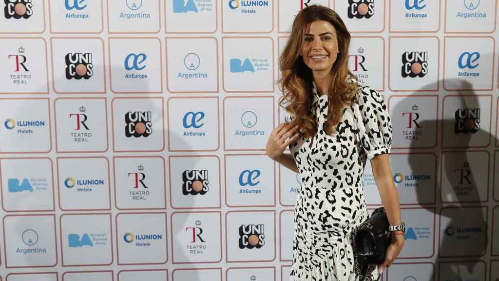 Juliana Awada ha acudido al Teatro Real de Madrid.