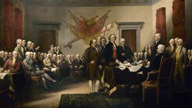 'Declaración de Independencia', un cuadro de John Trumbull (1819).