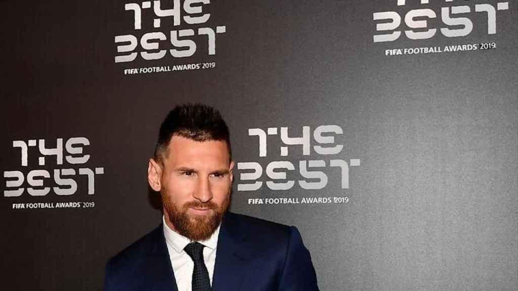 Messi posando en la gala de Premios The Best 2019.