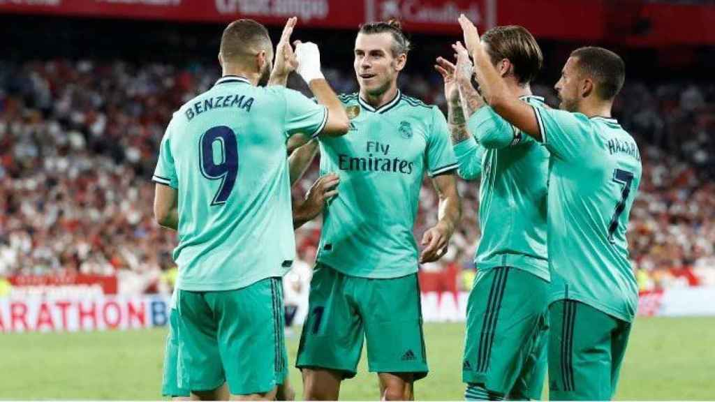El Real Madrid celebra un gol. Foto (realmadrid.com)