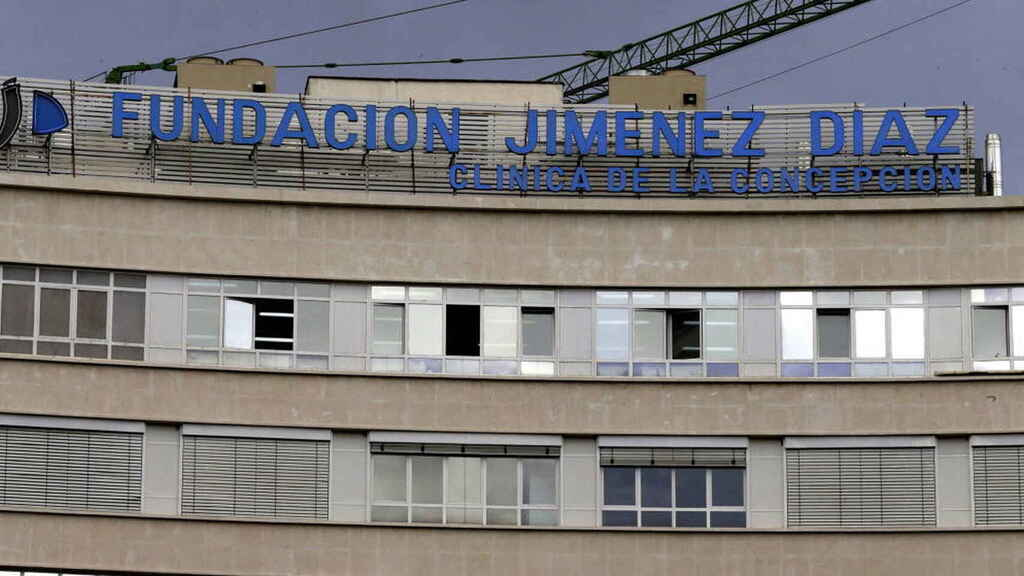 La fachada de la Fundación Jiménez Díaz, en una imagen de archivo.