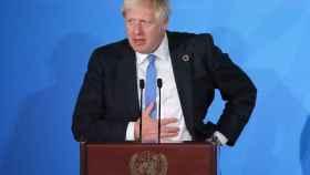 Boris Johnson, durante la cumbre del clima de Nueva York
